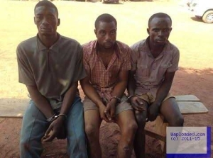 Photos: Enugu State Police Command arrests notorious kidnappers who beat and starved their victim to death